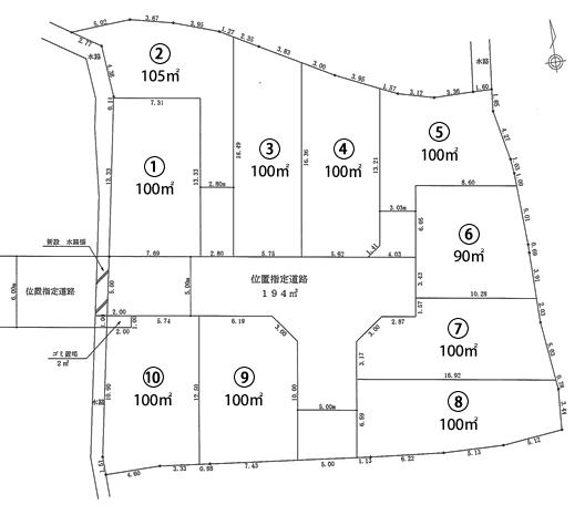 伊丹寺本5丁目 区画図面