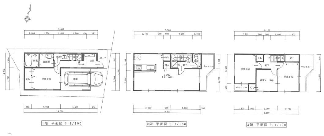 東難波町3丁目限定1棟 4LDKフリープラン提案図
